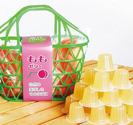 果汁100%ゼリーカゴ もも味23粒